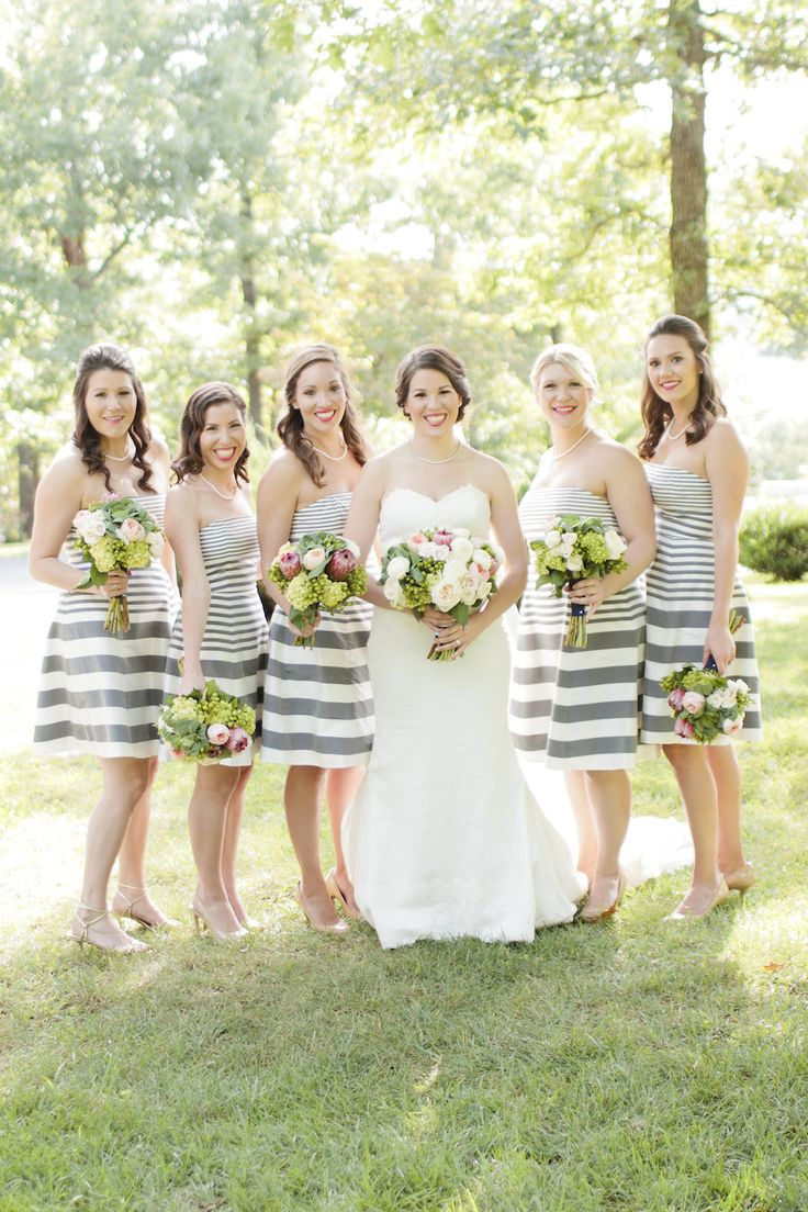 Best 25 striped bridesmaid dresses ideas on pinterest preppy gray striped bridesmaids dresses ombrellifo Image collections