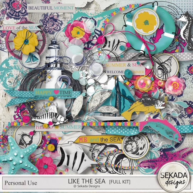 Collections :: L :: Like The Sea by Sekada Designs :: Like The Sea - Full Kit