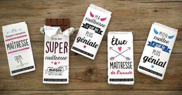 IMPRIMABLE Bandeau merci pour tablette de chocolat