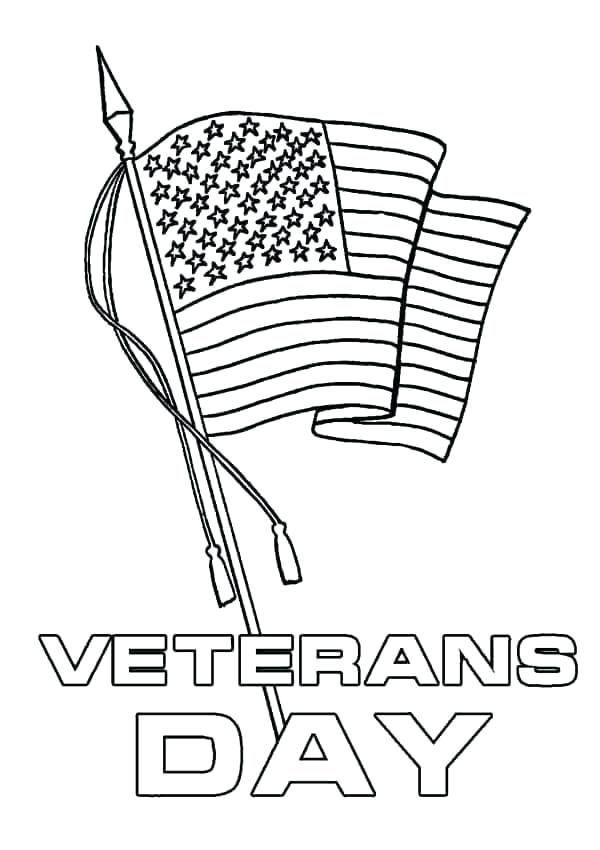 Veterans Day Coloring Page Image For Color | Veterans Day Coloring ...