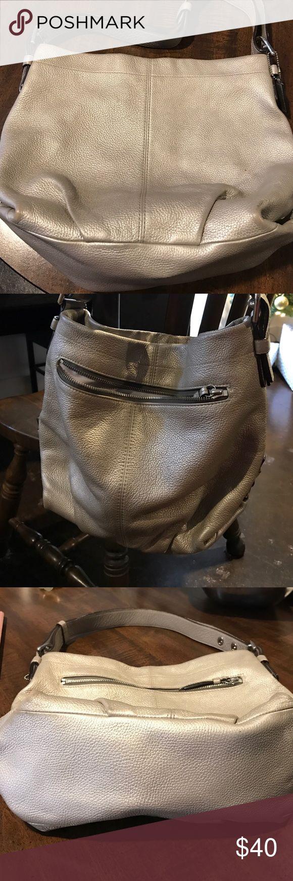 Coach Shoulder Bag Silver shoulder bag Coach Bags Shoulder Bags