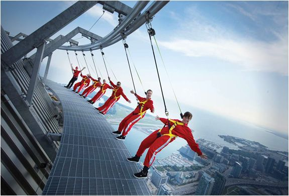 Edge Walk Tour, CN Tower, Toronto.  Crazy!