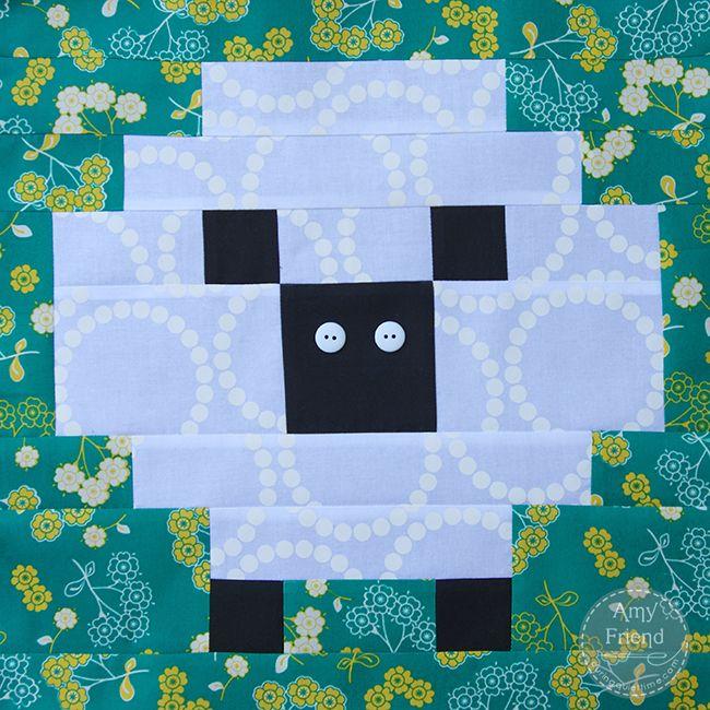 Sheep Block - Little House on the Prairie Sew Along