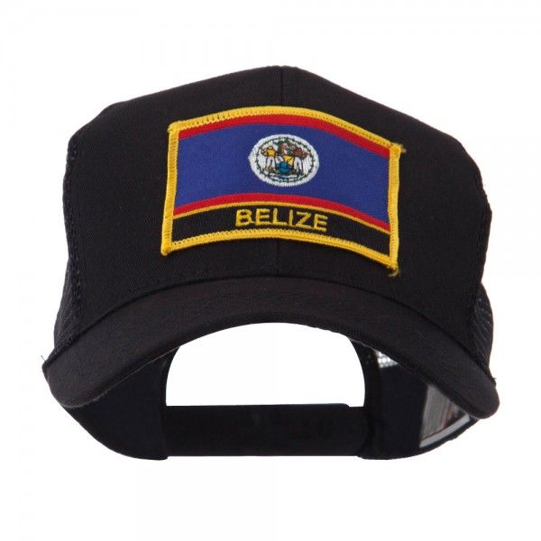 Embroidered Cap - Belize North, South USA Flag Letter Patch Cap // e4Hats