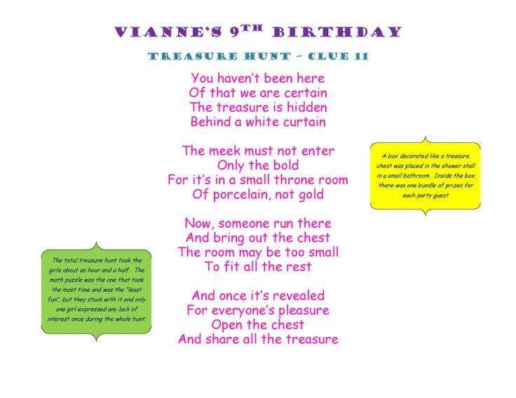Birthday Treasure Hunt Clue 11 #Treasure #Hunt #Treasurehunt #Clue11