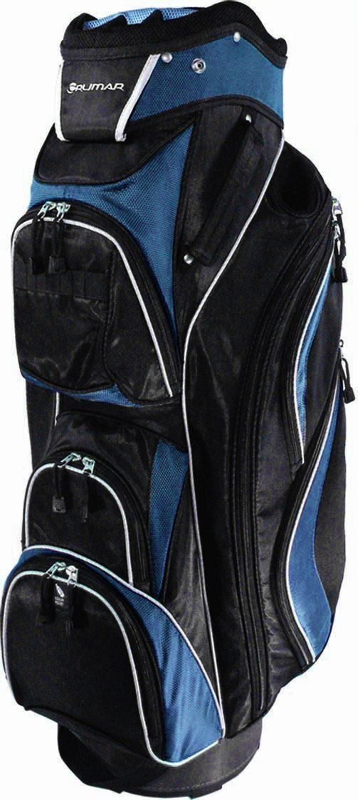 With a soft lift handle and padded shoulder strap these mens UL 14 golf cart bags by Orlimar are also equiped with a 14-way graphite safe top