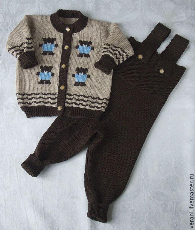 Купить Костюмчик из шерсти Мишки-топтыжки - костюм вязанй, костюм шерстяной…
