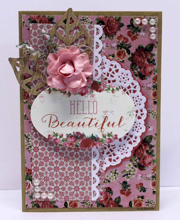 DT card for #kaisercraft using Tropical Punch - Anita Bownds