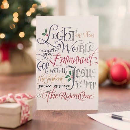 29 best Christian Christmas cards images on Pinterest Christmas - christmas card word