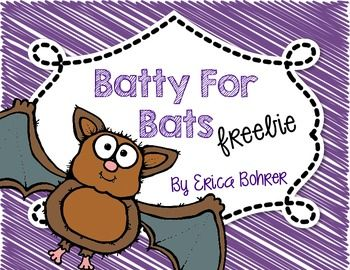 "This Freebie is for the life cycle of a bat and a bat themed roll a word center.  I hope you like the freebie!  Make sure to check out my <a href=""http://www.teacherspayteachers.com/Product/Batty-for-Bats-371119"">Batty for Bats</a> full file on TpT."