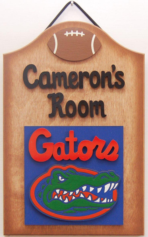 Florida Gators Personalized Football sign Florida Gators wooden sports fans sign teen sports sign Personalized Florida Gators football sign by UCsportsbyBill on Etsy