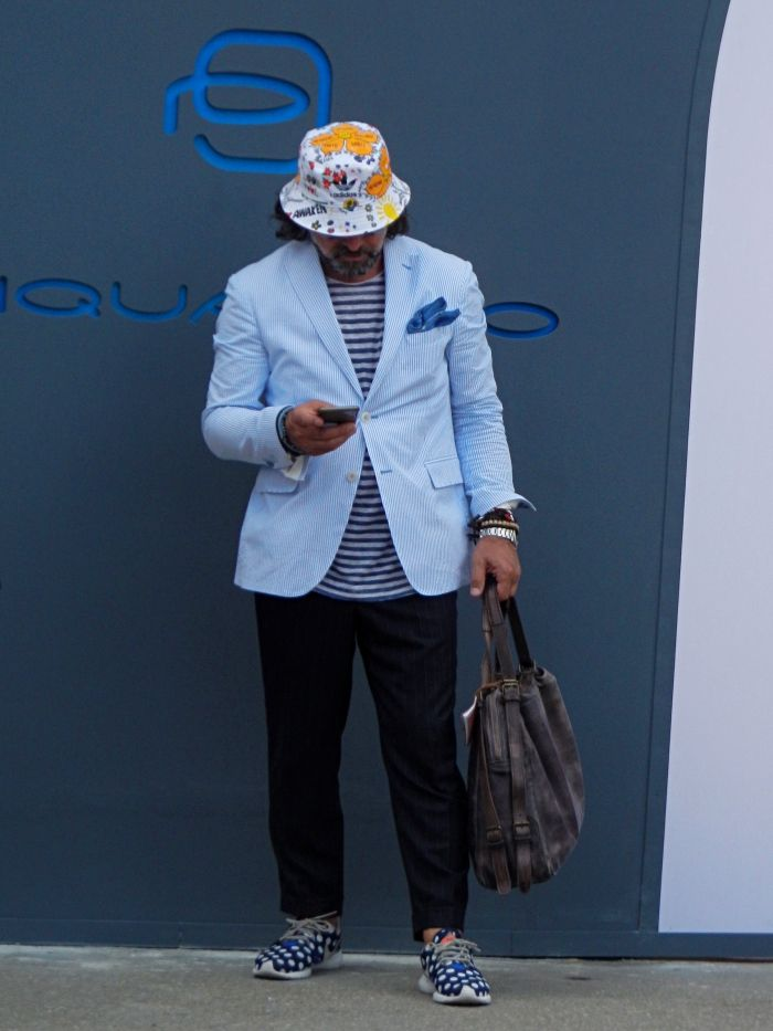 Bucket hats are having a moment.