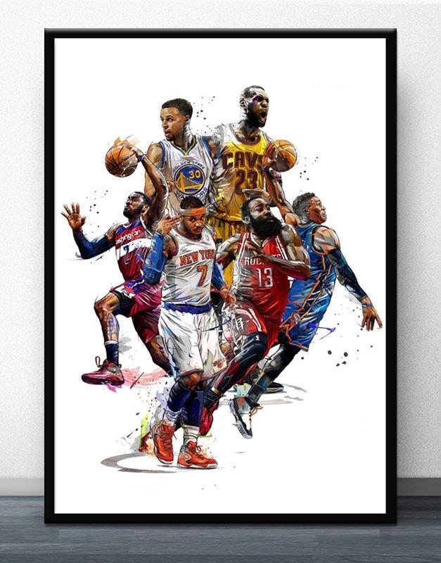 Lebron James Super basketball Star Silk Art Poster Print