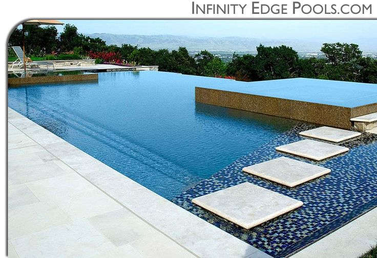 Pools infinity edge pools custom swimming pool by international pool pools pinterest - Infinity edge swimming pool ...