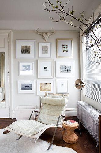 Melanie Acevado via Domino {white eclectic vintage modern … | Flickr