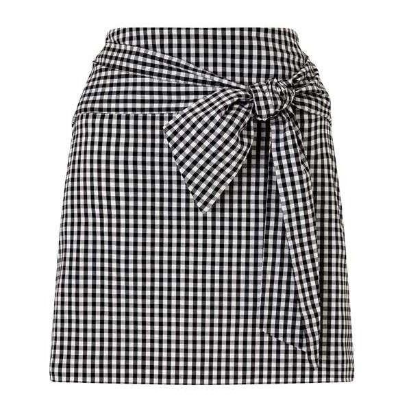 Gingham Poplin Skirt ($62) ❤ liked on Polyvore featuring skirts, bottoms, gingham skirt and poplin skirt