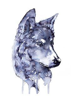 Watercolor Wolf Tattoo Watercolor wolf tattoo,