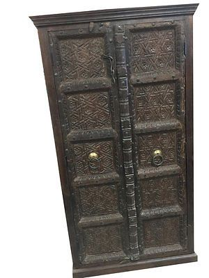 ANTIQUE-CARVED-DOORS-WARDROBE-RUSTIC-TEAK-VINTAGE-ARMOIRE-SPANISH-STYLE-DESIGN  http://stores.ebay.com/mogulgallery