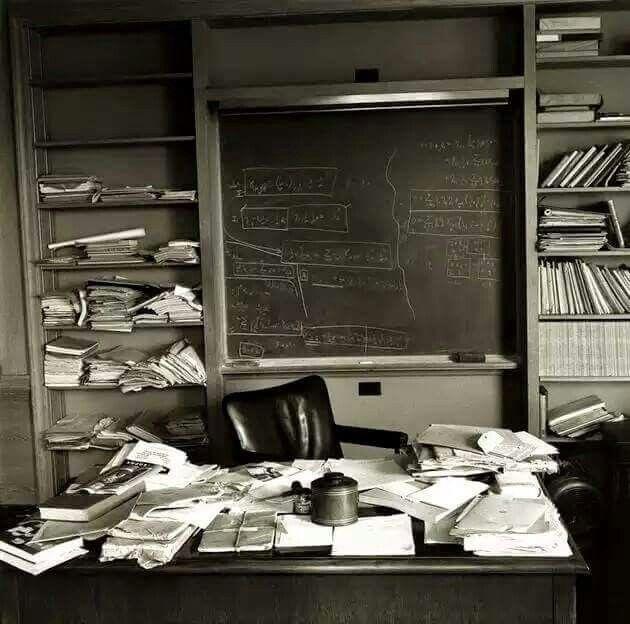 Albert Einstein's office on the day of his death.