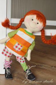 polandhandmade.pl #bymamastudio #doll #softdoll #pippi Pippi- bymama studio