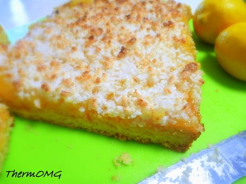 Lemon Coconut Slice — ThermOMG