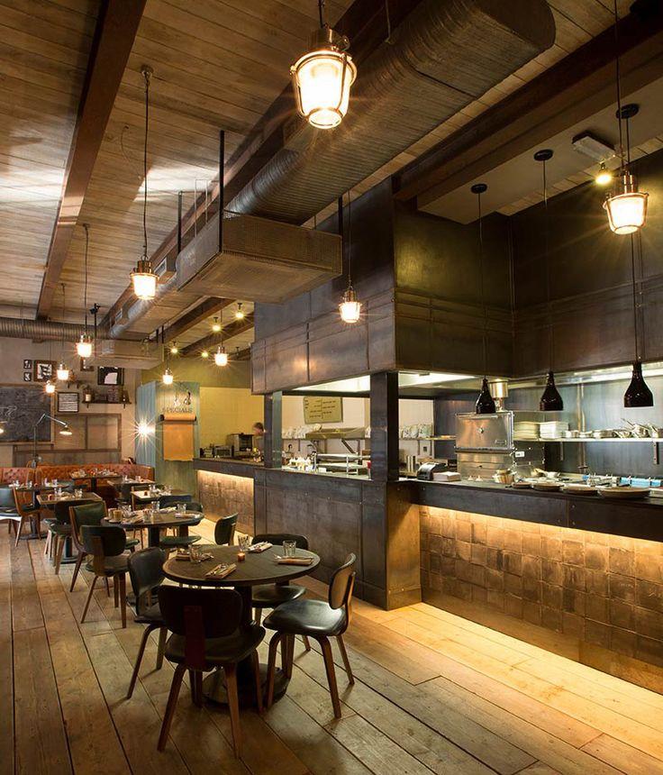 Q Grill, Chalk Farm Open kitchen restaurant, Barbecue