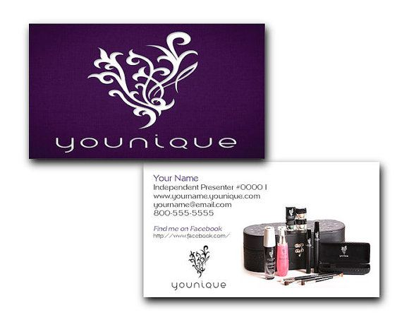younique makeup business cards images card design and card template. Black Bedroom Furniture Sets. Home Design Ideas