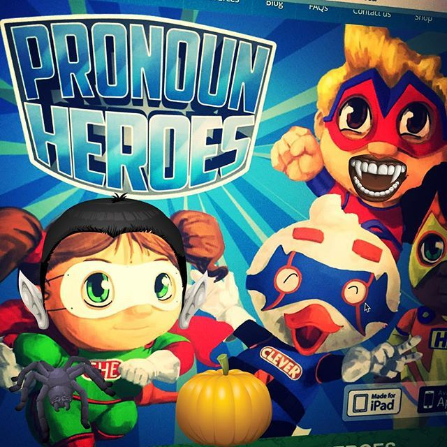 The characters on pronouns heroes got ready for Halloween. What about you? What will you prepare for this years Halloween?