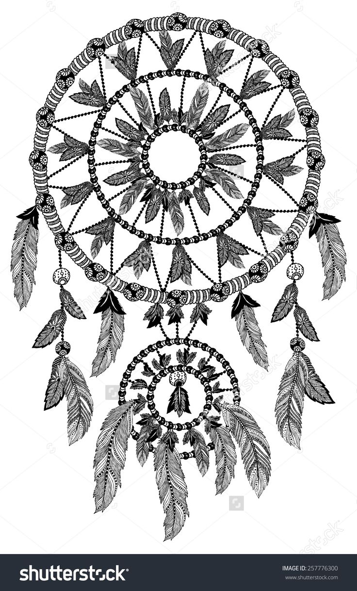 Coloring pages dream catchers - Find This Pin And More On Dreamcatcher Coloring Pages For Adults