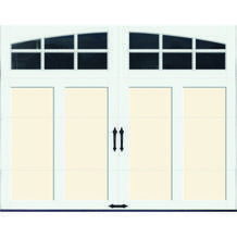 Ideal Door® 9' x 7' Arch Grille Windows Residential Garage Door from Menards $1,348.00