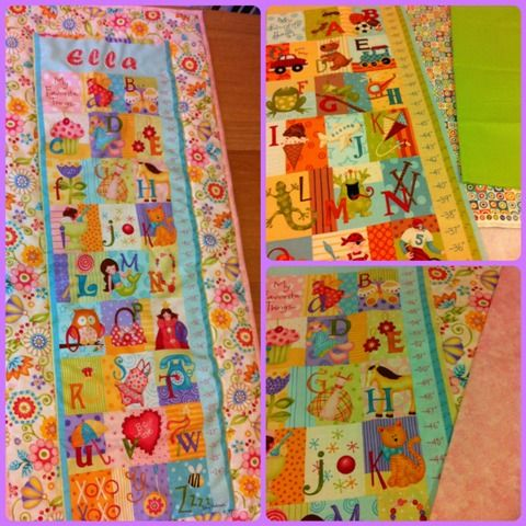 Quilted Height Chart - The Supermums Craft Fair