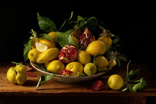 Lemons and Pomegranites,   After J.v.H.  by Paulette Tavormina   tavormina-still9.jpg  Photos done in the dutch master