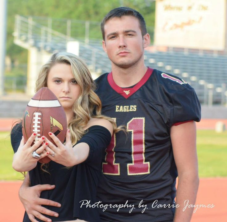 For the love of football West Valley High School Varsity Quarterback Kody Karpinski and Girlfriend Rylie Burris high school sweethearts couples by Carrie Jaymes Photography