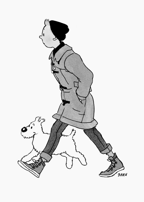 hipster Tintin: Style, Comic, Art, Illustration, Snowy, Things, Modern Tintin