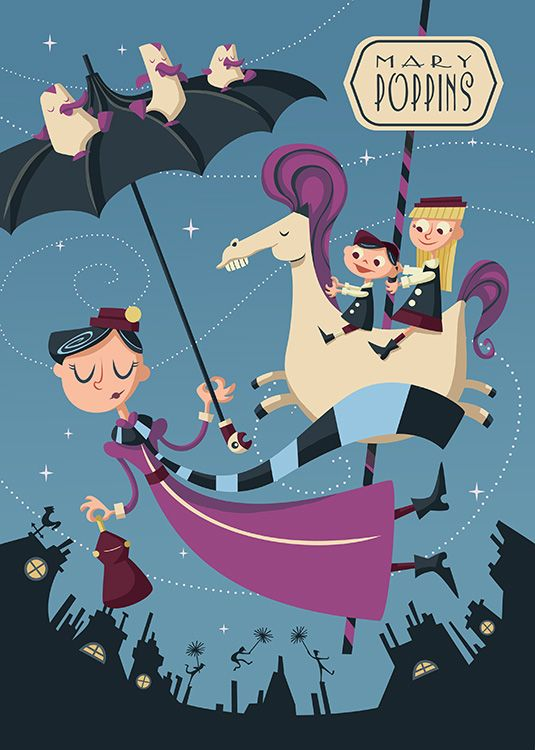 Poster inspired by Mary Poppins www.alicerisi.it