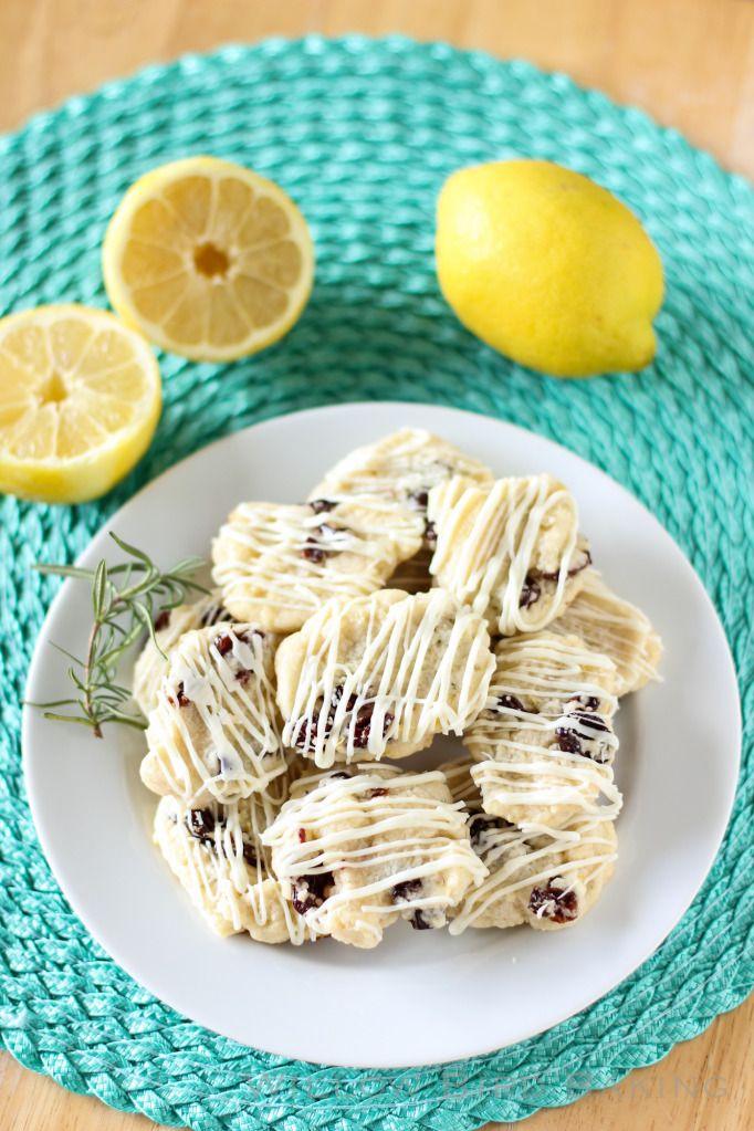 Cherry Lemon Rosemary Shortbread Cookies | Lick the plate | Pinterest