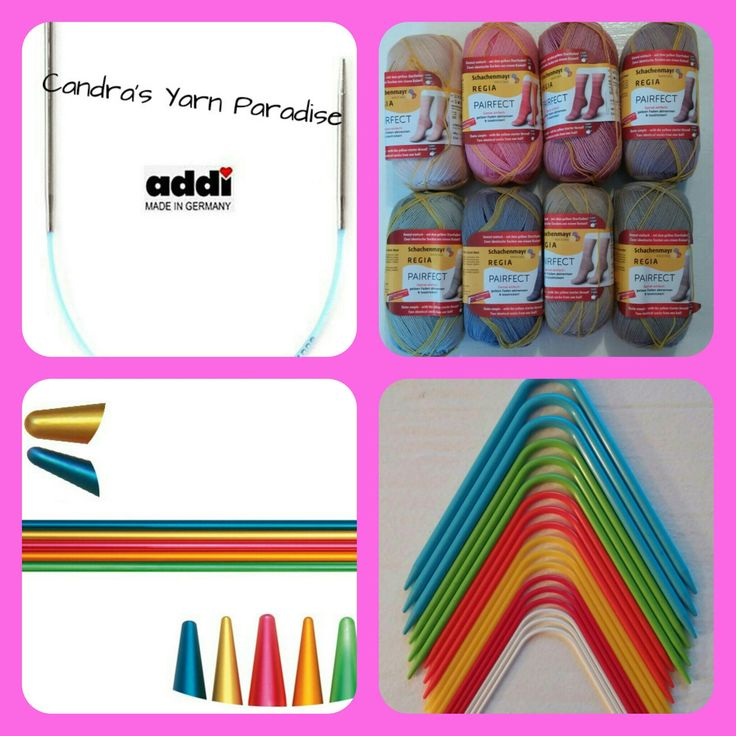 Neko curved double pointed knitting needles addi Easyknit, addi FlipStix and Regia Pairfect sock yarn