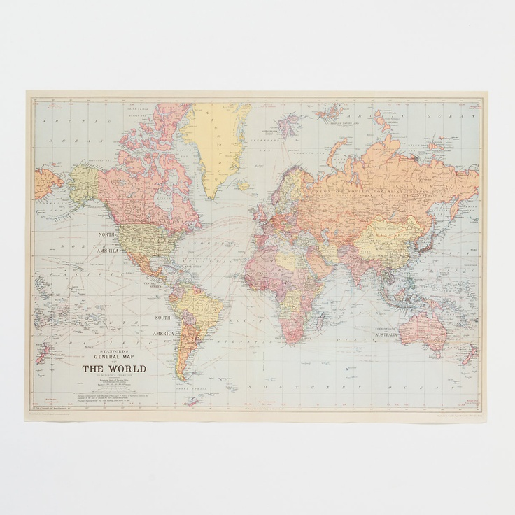 use a vintage world map as wallpaper College Pinterest World Vintage a