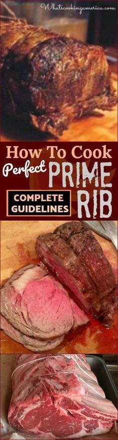 Guidelines for Purchasing, Preparing, Internal Temperatures, Carving and Side Dishes #Prime #Rib #beef #Christmas #thanksgiving