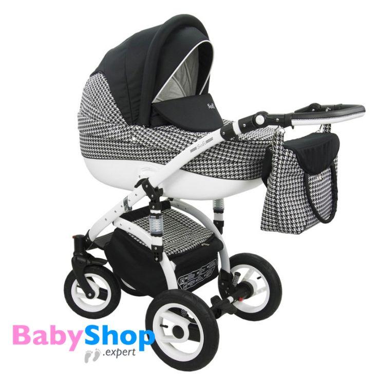 Kinderwagen Evado 3in1: Babywanne, Buggy, Autositz - schwarz + Karo  http://www.babyshop.expert/Kinderwagen-Evado-3in1-Babywanne-Buggy-Autositz_22  #babyshopexpert #kombikinderwagen #kinderwagen