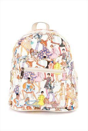 Beyaz Desen Sırt Çantası 925 Housebags | Trendyol