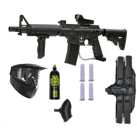 OFERTA COMBO DE PAINTBALL TIPPMANN BRAVO ONE ELITE (ALPHA BLACK)  http://tienda.globalxtremesports.com/es/home/381-combo-tippmann-us-army-alpha-black-elite-sniper-m-fdp-paintball-gun-player-package.html