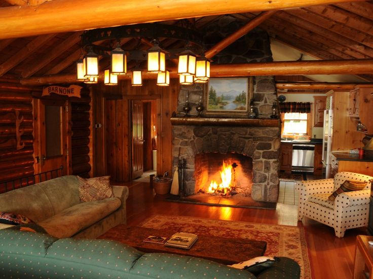 Waterfront Log Home on Quiet Lake in the... - HomeAway Saranac Lake