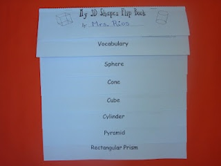 This ready-made, easy-to-assemble, 3D shapes flip book covers sphere, cylinder, cone, pyramid, cube, and rectangular prism. It also presents illustrated examples, and definitions, for important vocabulary terms such as vertices, edges, and faces. $