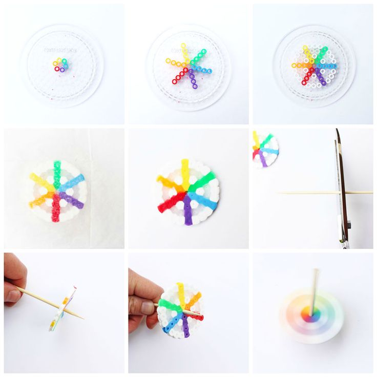 Make these easy diy toys spinning tops using perler beads for Easy diy toys