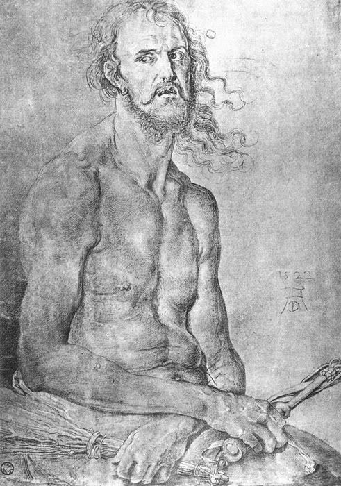 As man of sorrows, 1522, Kunsthalle Bremen. Автопортрет Дюрера. Пинакотека,  1522 г. (Кунстхалле, Бремен).