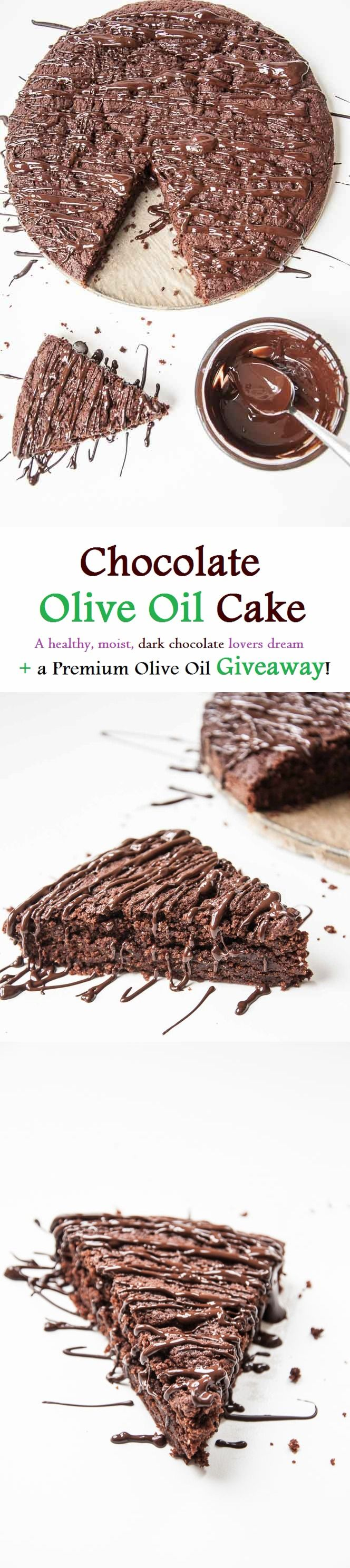 Moist Chocolate Olive Oil Cake Recipe   VeganFamilyRecipes.com   #clean eating #dessert #dark chocolate #vegan