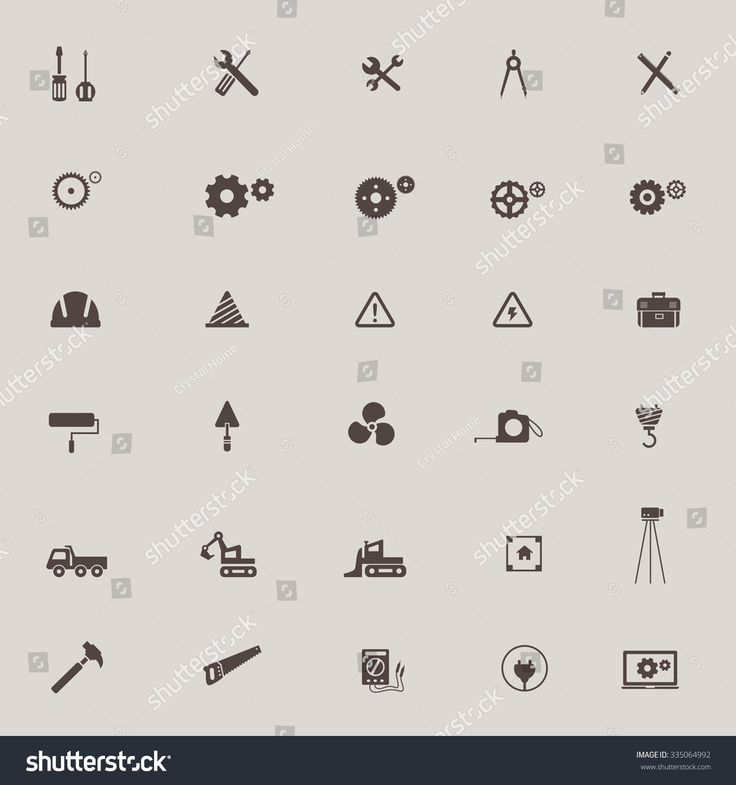 Civil engineering, technician, labor, excavator transport and construction site industry graphic tool sign and symbol icon collection set, create by vector