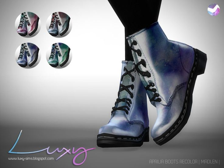 #Sims4 #S4Shoes | LuxySims3's Aprilia Boots [RECOLOR] - mesh needed