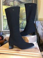 ARA Fisk Boots Tall Waterproof Gortex Zip Boots Black 10-10.5